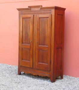 Stipo armario dos puertas st.Luigi XVI piamontesa, álamo, '800 - L 134 cm!