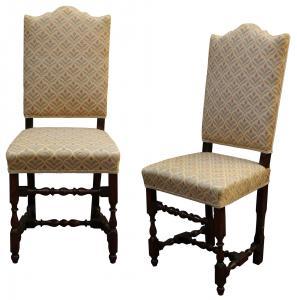 Пара катушечных стульев, 17 век