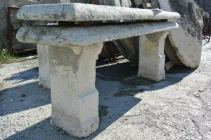 4 antique benches in green stone from Frabosa