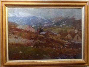 """Berglandschaft"" Mario Bettinelli (Treviglio 1880 - Mailand 1953)"