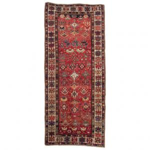 Antique KAZAK Caucasian rug signed and dated