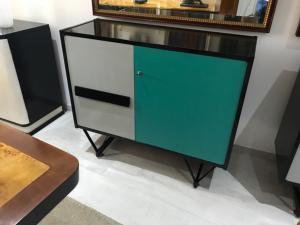 五十年代橱柜夫妇在福米卡和漆面大小:107x40 h.90