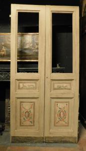 ptl543 - стеклянная дверь, 19 век, изм. см l 120 xh 244