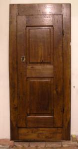 stip052 cartel con una puerta de álamo mis. 81 x184