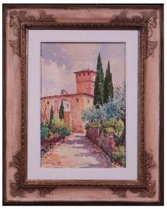 Giovanni Ospitali (Bologna 1927) - toskanische Landschaft