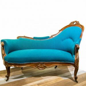 Dormeuse stile Luigi Filippo in noce, Louis Philippe style daybed in walnut