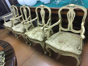 Ancient Venetian armchairs from the 18th century