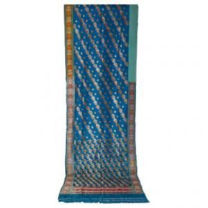 Antique Indian SARI turquoise