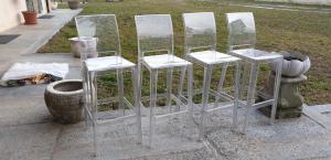 4 sedie Kartell in plexiglass