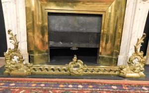 al185 - ashtray in gilded brass, epoch '800, cm l 125 xh 40