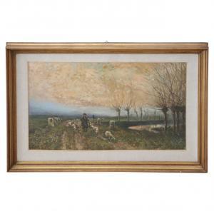 Dipinto olio su cartoncino stile impressionista sec. XX PREZZO TRATTABILE