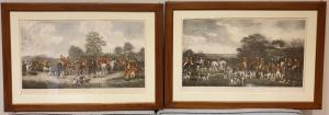 Copy of prints depicting fox hunting
