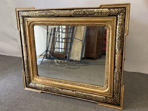 古董拿破仑三世布尔镜子 1880。 122 x 101 厘米精湛的古董镜框!!!