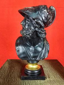 Sculpture Bust Grand Tour H 37 Cm Menelaus 19th Century