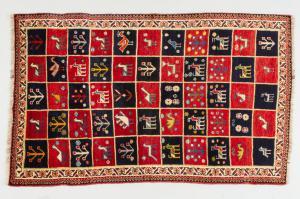 Old Iranian GABBEH carpet - nr. 1362 -