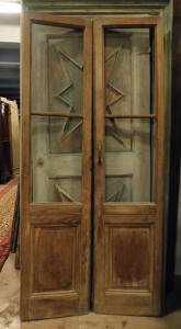 pti692 - стеклянная дверь из ореха, 19 век, размер 94 xh 205 см