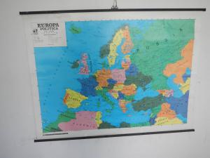 political geographical map of the 70s