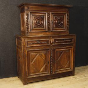 Antica credenza francese in legno di noce del XVIII secolo