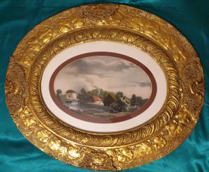 Kopie der goldenen ovalen Rahmen