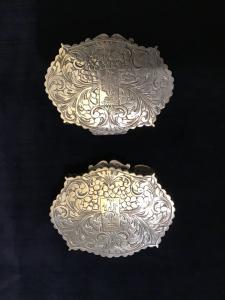Coppia di bomboniere in argento
