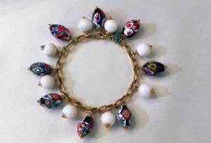 Bracelet with murrine and agate
