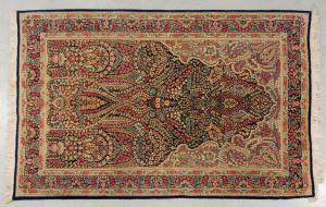 KIRMAN Ravar carpet with prayer design (n.148)
