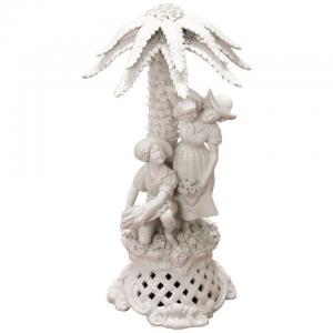 Estatueta de cerâmica branca sec. XX PREÇO NEGOCIÁVEL