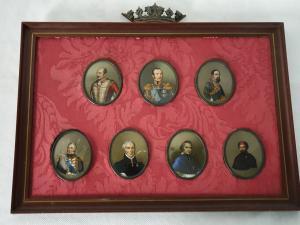 Miniature (7)DI ZAR E NOTABILI RUSSI meta XIX secolo