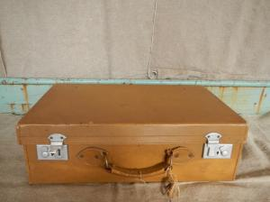 30s leather suitcase