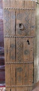 ptcr432 - этническая деревенская дверь, см 70 xh 214 см