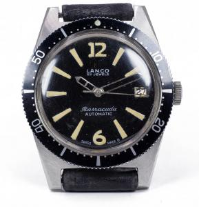 Lanco Barracuda diver wristwatch, automatic in steel. 60's