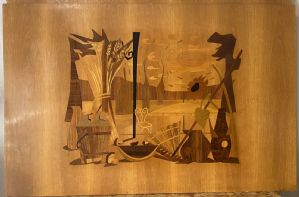 Quattro pannelli in legno lastronato