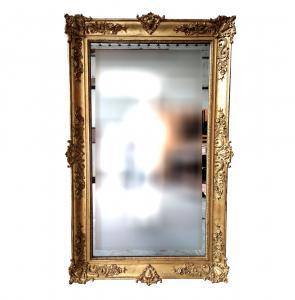 Specchiera dorata a foglia oro