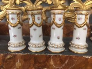 Quattro vasi Ginori Ottocento