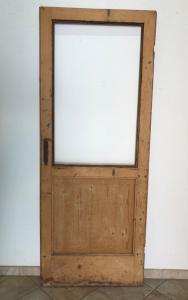 Porta de abeto com vidro