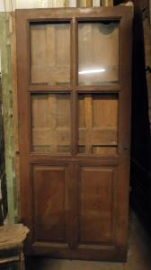 pti660 - porta semplice a vetri, misura cm l 80 x h 183 x sp. 3