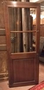 porta de vidro pti623 em nogueira, l 80.5 xh 195