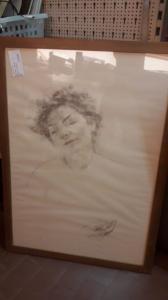 Desenho a lápis esboçado por Giovanni Romagnoli.Bologna (1893-1976).
