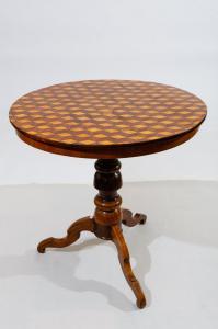 Antico tavolino intarsiato ROLO - rif. M/1940 -