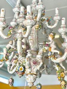 Capodimonte大型彩色陶瓷吊灯