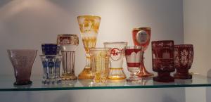 11 bicchieri in cristallo di Boemia
