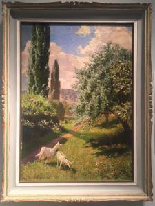 """""""Paesaggio italiano: Lago di Garda"""" Hans Lietzmann ( Berlino 1872 - 1955 Torbole)"""
