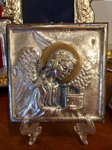 Rilevo con Angelo in argento