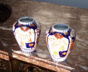 Pair of Japanese vases.