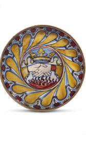 Fabelhafte Schale mit rubinrotem Glanz und goldem Mastro Giorgio Andreoli GUBBIO 1530