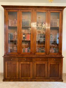 Walnut bookcase 230x48x264h