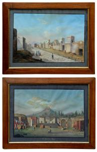 弗朗切斯科·费尔戈拉(Francesco Fergola,1801-1875 年)的庞贝城景观