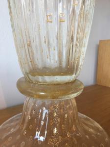 Vaso in vetro di murano soffiato trasperente