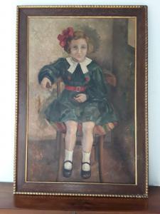 1900年代初的女孩肖像,依法在低保范围内签名