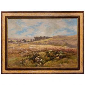 """Gemälde """"Das Heidental"""" mit einem schönen alten Rahmen"""